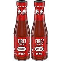 Taco Bell Fire Sauce Glass Bottle, 7.5 OZ - SET OF 2