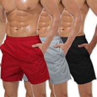 COOFANDY Men's 3 Pack Gym Workout Shorts Mesh Weightlifting Squatting Pants Training Bodybuilding Jogger with Pocket