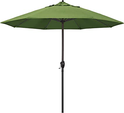 Amazon Com California Umbrella Ata908117 48022 9 Round Aluminum Market Crank Lift Auto Tilt Bronze Pole Sunbrella Spectrum Cilantro Patio Umbrella Garden Outdoor