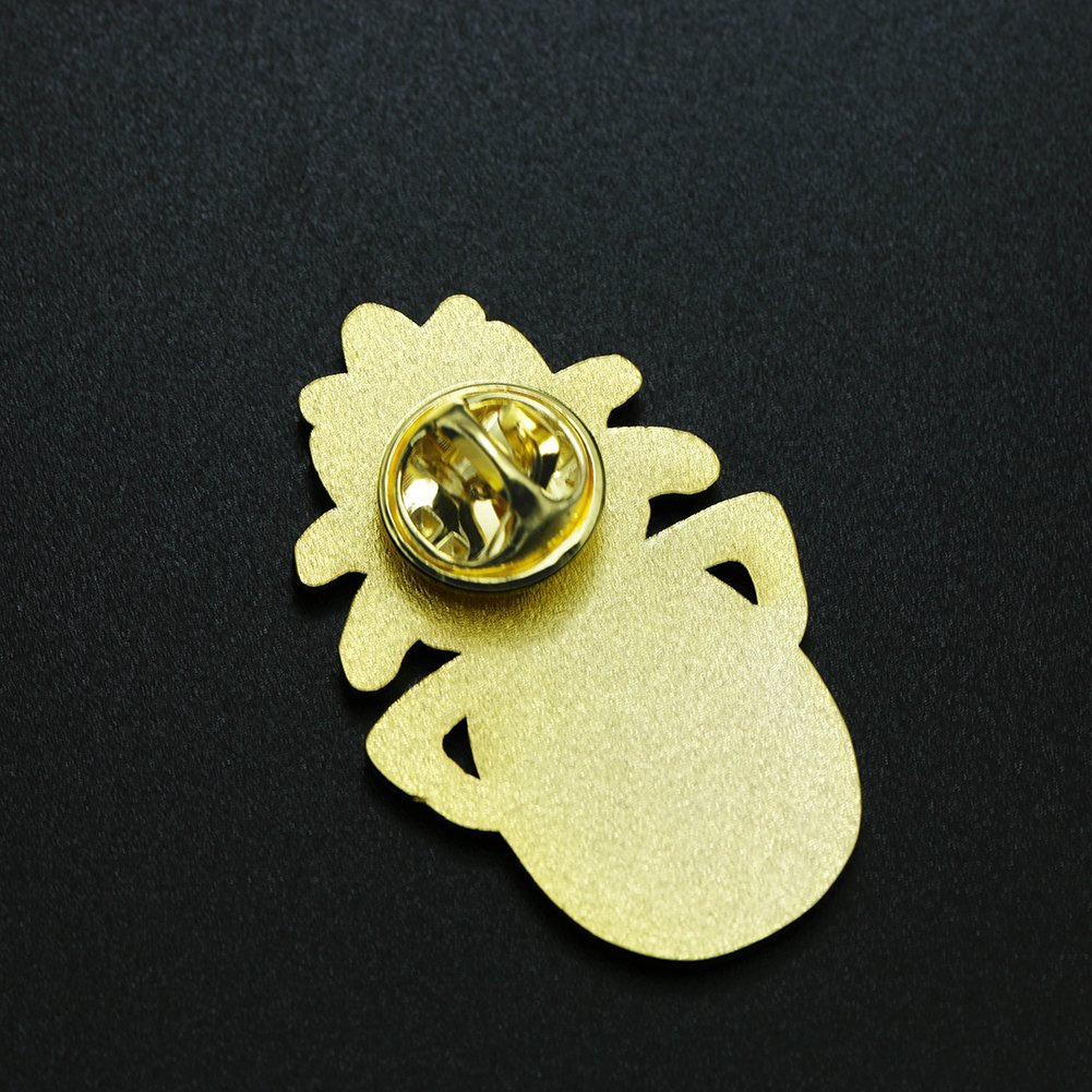 Ms. Clover Pineapple Enamel Pin Cute Fruit Enamel Pins Gifts for Women Cool Lapel Pins for Her. by Ms. Clover (Image #4)
