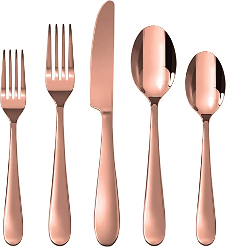 Rose Gold Cutlery  24 count