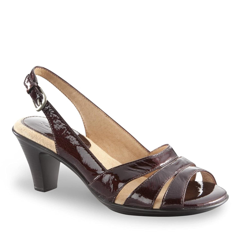 SoftSpots Womens Neima High-Heeled Slingback Sandals