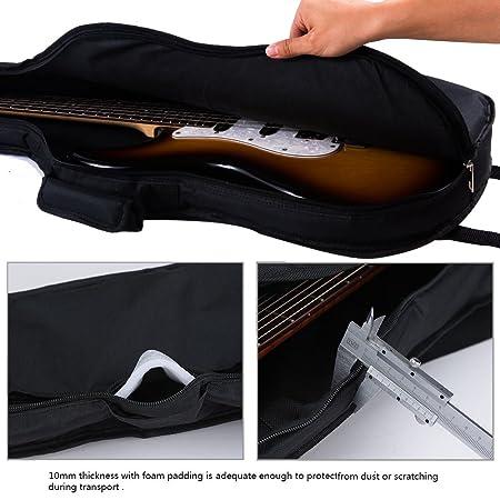 Rayzm funda para guitarra eléctrica, bolsa acolchada para guitarra eléctrica Strat y tele Style, dos correas acolchadas, asa de transporte,un amplio ...