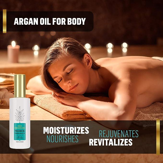 1001 Remedies Aceite de Argan Puro 100% Rico en Vitamina E Natural ...
