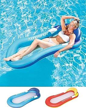 Cozywind Colchoneta Hinchable Piscina Flotador Inflable,Tumbona Hinchable de Playa,Sofá Hinchable Plegable con Almohada(Azul): Amazon.es: Deportes y aire libre