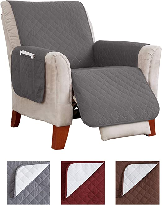 Chocolate Suede Waterproof Non-Skid Furniture Cover Pet pad slipcover  Recliner