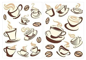 Wandtattoo Küche Wandsticker Set Kaffeetassen Zum Kleben Wandtattoo  Wandaufkleb