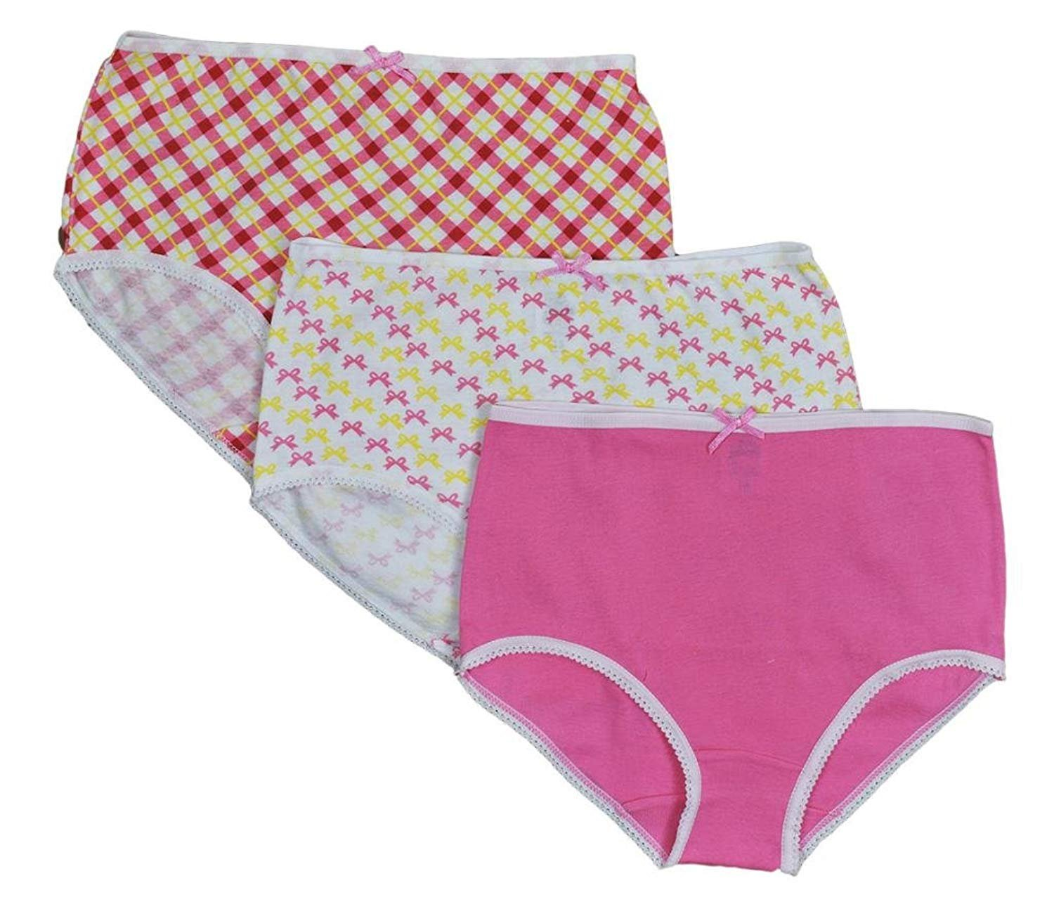 Jack 'n Jill Girls 100% Combed Cotton Briefs In Assorted Prints (3 Pack) 906
