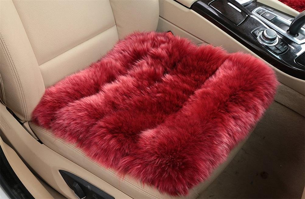 YAOHAOHAO The universal sheepskin seat cushion for comfort in a car, airplane, at home or at the office, 3.