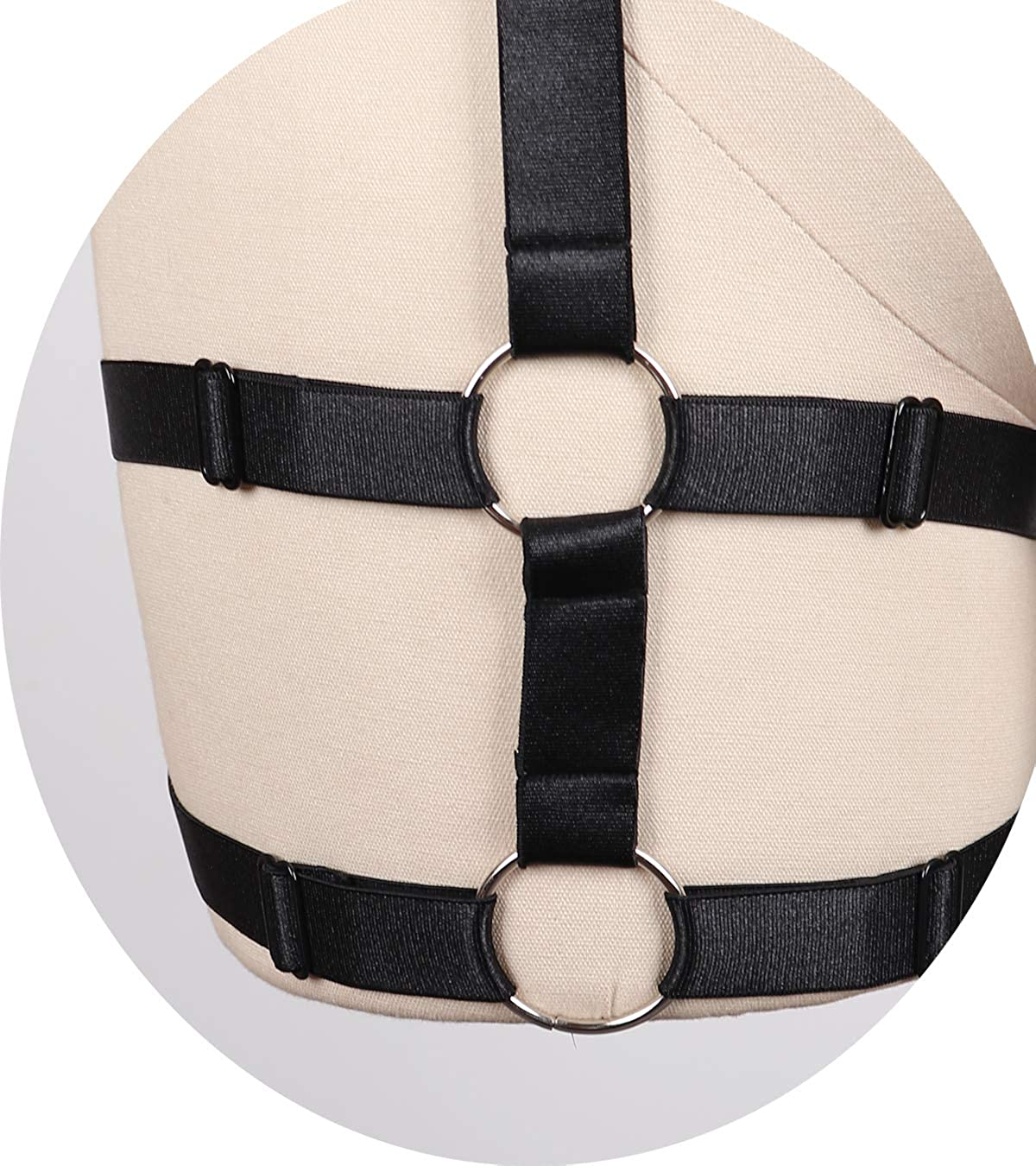 Style-8 HJZLSSYS Womens Leg Garter Harness Bra Gothic Garter Belt Strappy Cage Bra Plus Size for Women