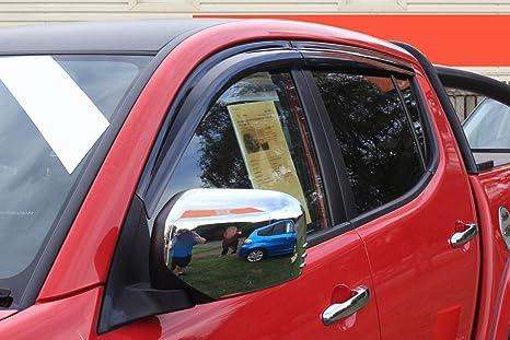 lot de 4 fum/é double cabine Autoclover d/éflecteurs dair Mitsubishi L200 2006+