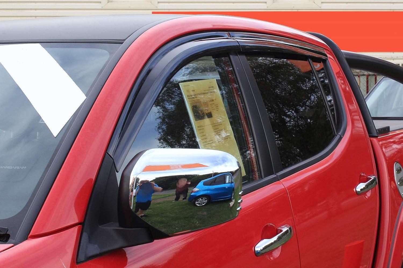 Autoclover Wind Deflectors Set for Mitsubishi L200 2006+ Double Cab (4 pieces)