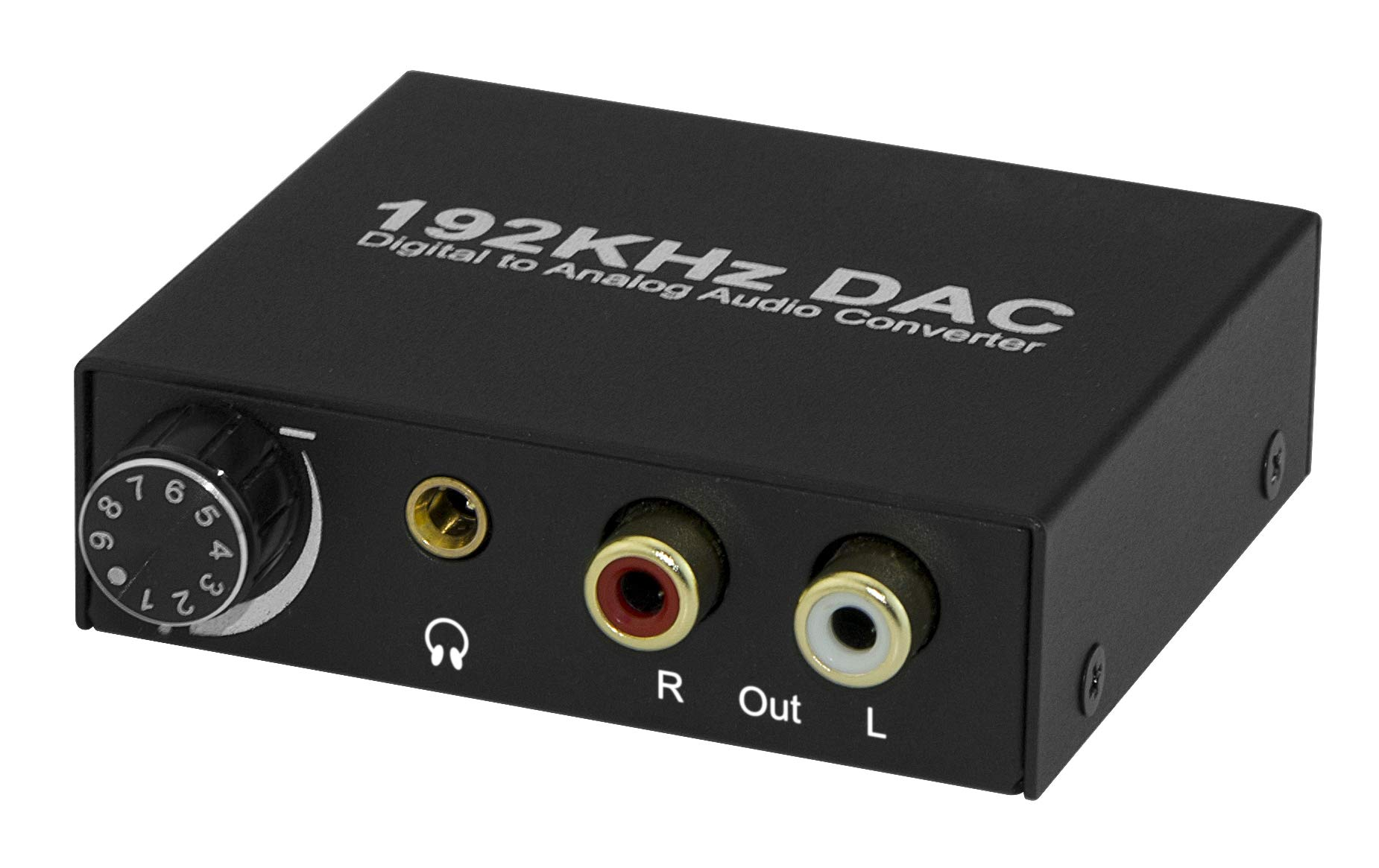XtremPro 192KHz DAC Converter, 24bit Digital to Analog Audio Converter, Volume Control, Optical, Coaxial, Toslink To Analog, 3.5mm Audio Headphone Amplifier & Mini Stereo Pre-Amplifier - Black (61089)