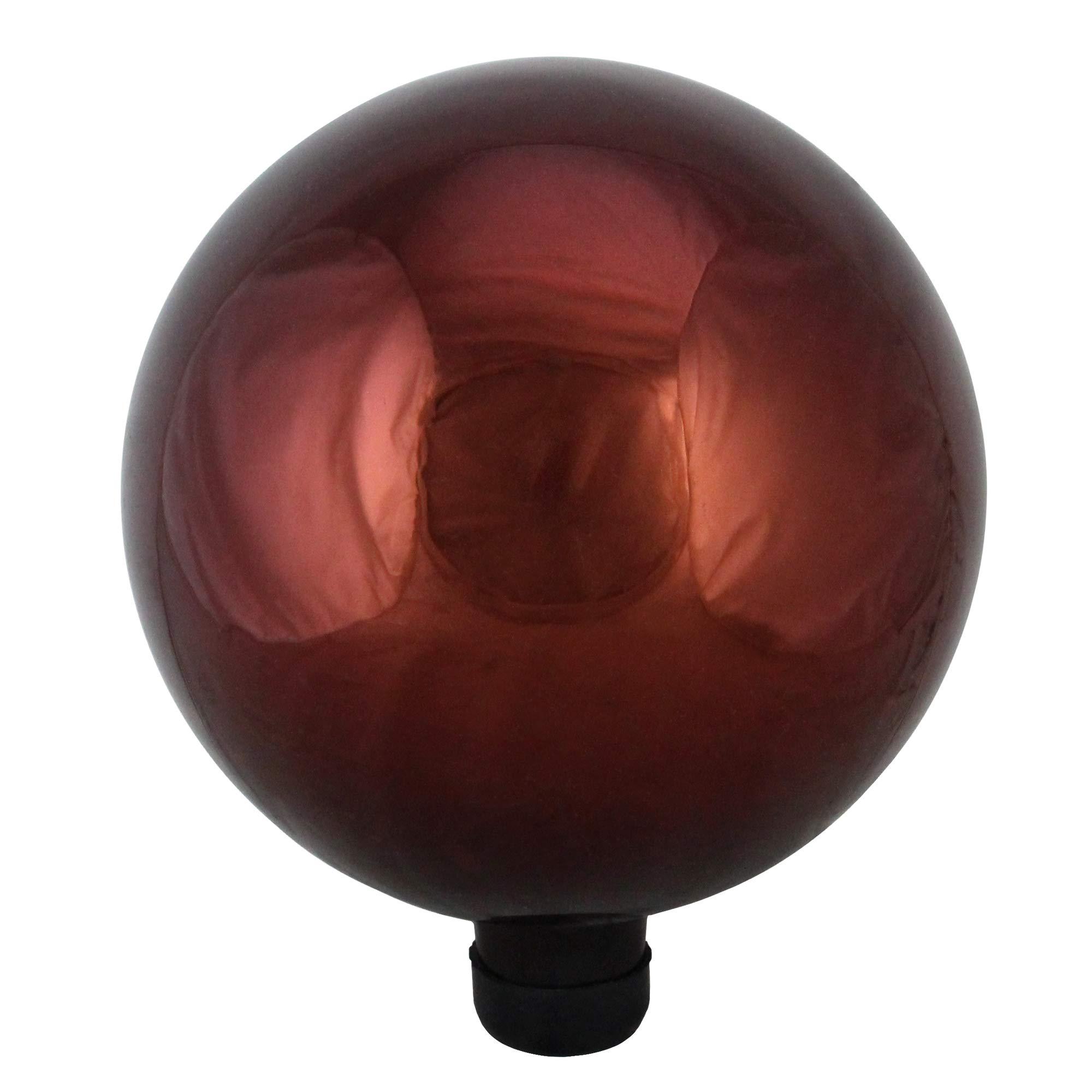 Northlight 10'' Shiny Berry Red Outdoor Patio Garden Gazing Ball