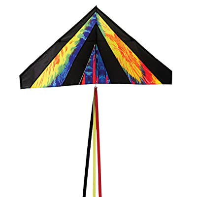 In the Breeze Delta Kite, 4-Feet, Tie Dye : Garden & Outdoor
