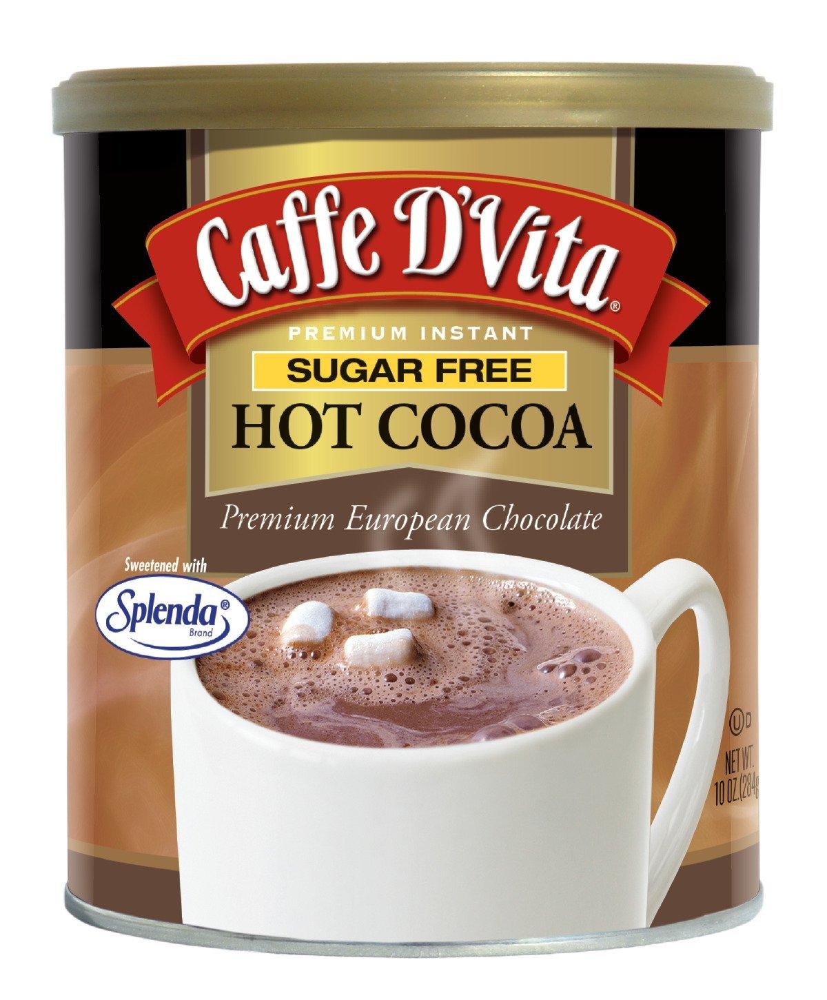 Amazon.com : Caffe D'Vita Sugar Free Hot Cocoa, 10 Ounce Can : Hot ...