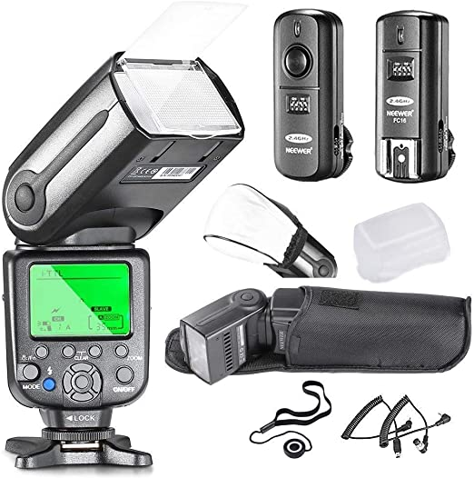 Neewer 10081493 Kit esclavo flash speedlite para cámara réflex ...