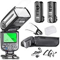 Neewer NW565EX i-TTL Slave Flash Kit for Nikon DSLR Camera Such as D7100 D7000 D5300 D5200,Include:(1) NW565N Flash +(1…