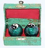 Qi Gong Kugel Yin-Yang grün 3,5 cm