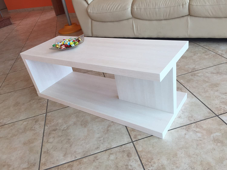 VE.CA-ITALY Tavolino basso salotto moderno in legno Bianco made in ...