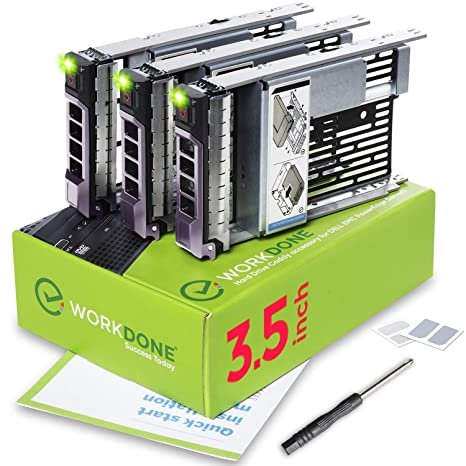 Amazon com: WorkDone 3-Pack - 3 5 inch Hard Drive Caddy with 2 5