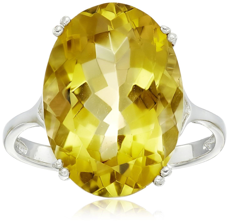 Sterling Silver 18x13mm Oval Gemstone Ring