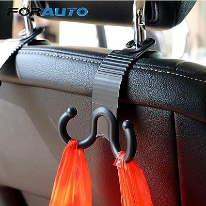 Black Car Seat Hook Purse bag Hanger Bag Organizer Holder Clip Accessories