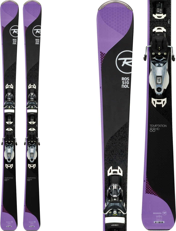 Rossignol Temptation 88 HD Skis w/Konect NX 12 Dual WTR Bindings Womens