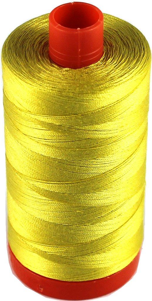 Aurifil Cotton Mako Thread 50wt Gold Yellow Large Spool 1300m MK50 5015