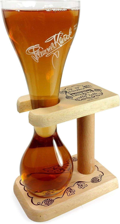 Pauwel Kwak belga Cerveza Cristal con soporte de madera, 0,3L