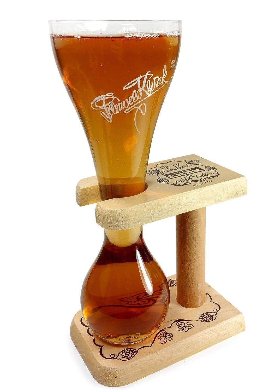 Pauwel Kwak belga Cerveza Cristal con soporte de madera 0,3/L