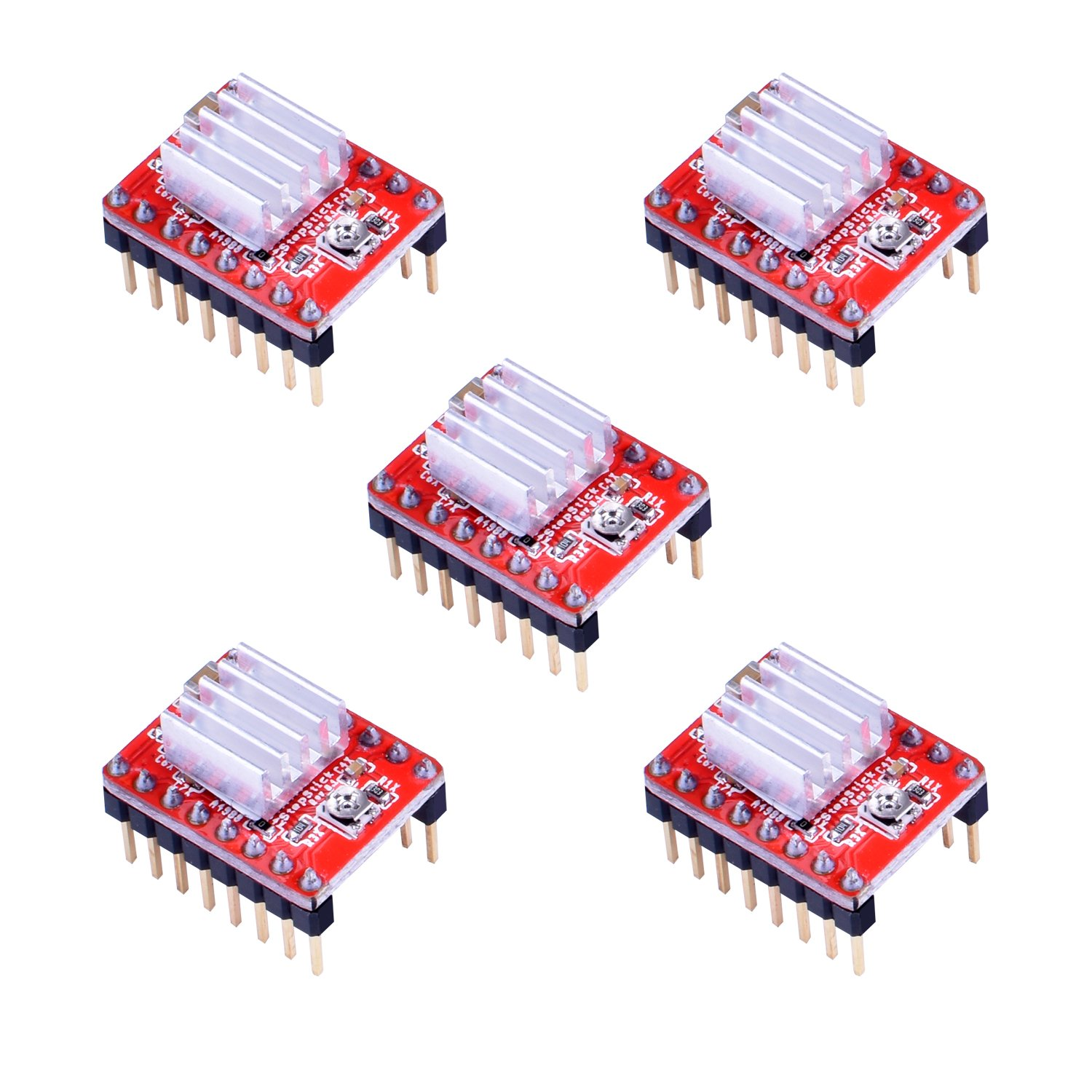 3d Printer Controller Kit For Arduino Mega 2560 Uno R3 The Stepperdriver Interface Uses Power Mosfets Starter Kits Ramps 14 With Upgraded Mosfet 5pcs A4988 Stepper Motor Driver Lcd