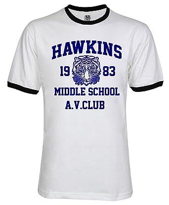 Amazoncom Wearuz Hawkins Middle School Av Club Men Unisex Ringer T