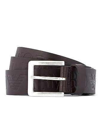 90dddb486d0 Armani Hommes ceinture de cuir logo langue Brun  Amazon.fr  Vêtements et  accessoires