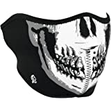 Zanheadgear WNFM002H White/Black Neoprene Skull Half Face Mask