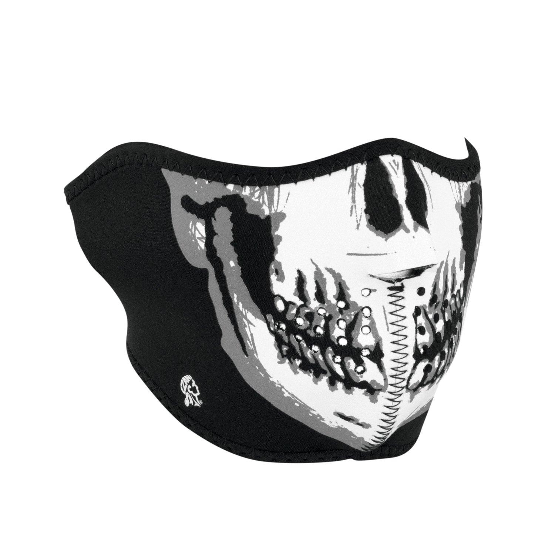 28e42bda37b Amazon.com  Zanheadgear WNFM002H White Black Neoprene Skull Half Face Mask   Automotive