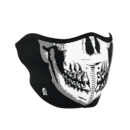 d526fb38199 Amazon.com  Zanheadgear WNFM002H White Black Neoprene Skull Half Face Mask   Automotive