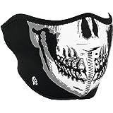 Zanheadgear WNFM002H Neoprene Half Face Mask, Black and White Skull Face