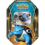 Pokemon TCG: XY Power Trio - Blastoise EX Tin | Power Trio Collector's Tin Featuring Holofoil Blastoise EX playable card & 4 Booster Packs | Includes 41 Officially Licensed Pokemon Trading Cards