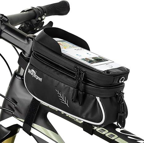WOTOW Bolsas de Montaje para teléfono de Bicicleta, Manillar MTB ...