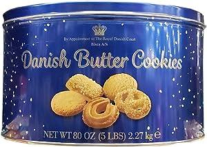 Bisca Danish Butter Cookies Pack Net Wt (80 Oz),, ()