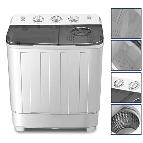 Amazon.com: 4-EVER Portable Mini Compact Washing Machine Twin Tub ...
