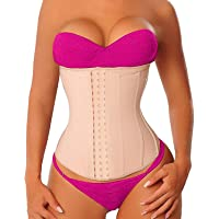 9ceedc7284 YIANNA Women Latex Sports Waist Trainer Corset Long Torso Shaper Cincher  for Weight Loss
