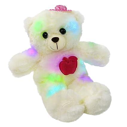 Amazon Com Wewill Led Teddy Bear Light Up Stuffed Animals Colorful