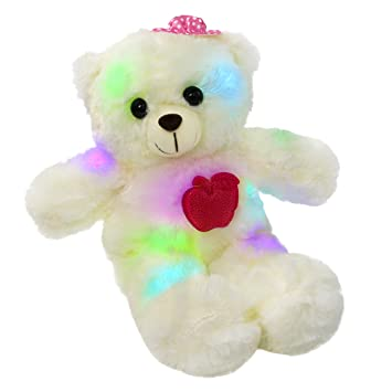 Amazon Com Wewill Led Teddy Bear Light Up Stuffed Animals Colorful