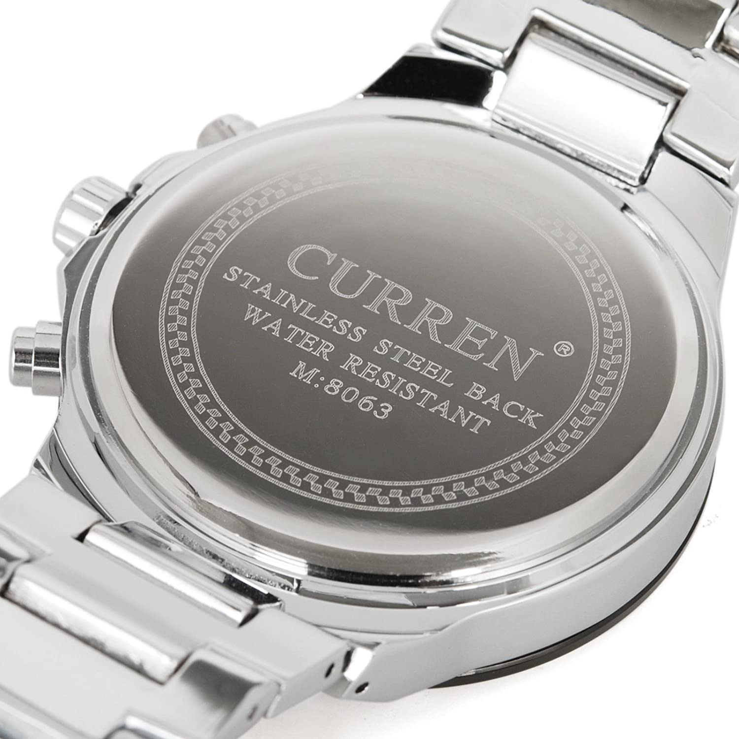 Amazon.com: CURREN Luxury Fashion Men Wrist Watch Stainless Steel Band Mens Sport Watch HOT: Electronics