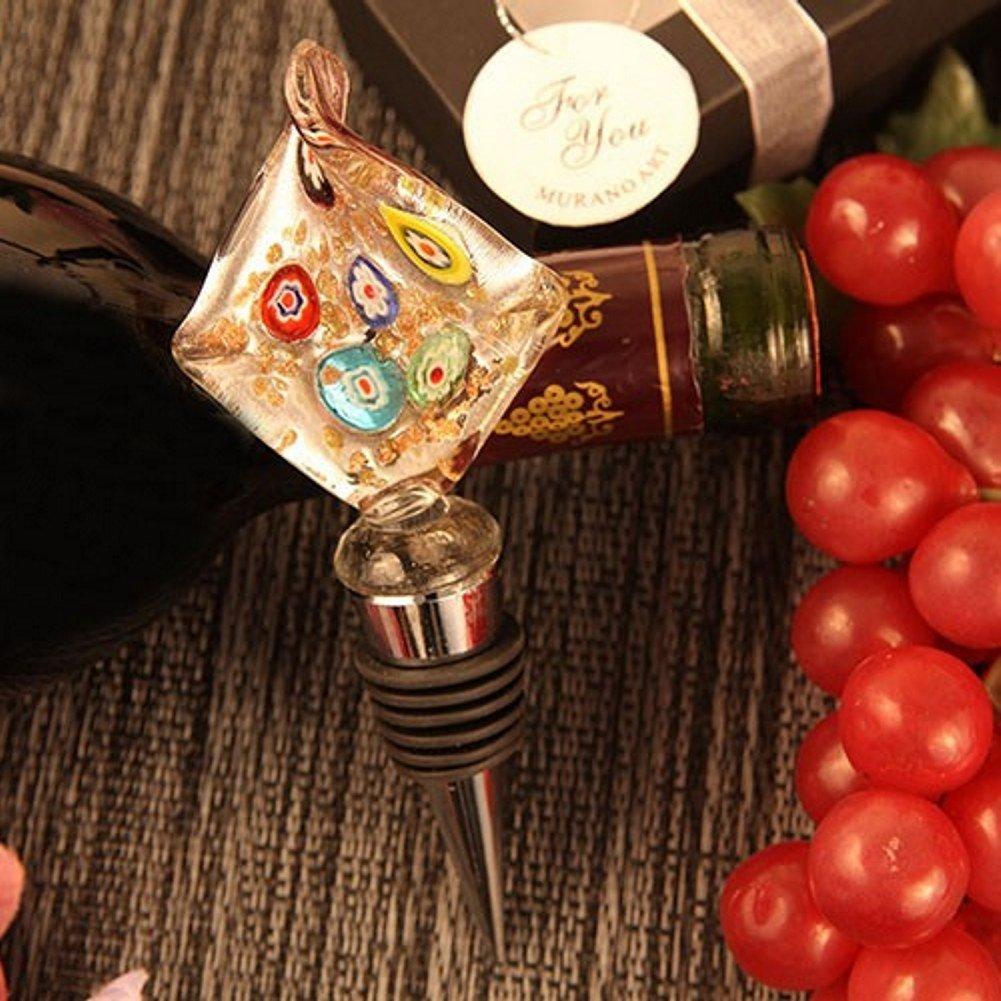 Modern Diamond Shaped Arte Murano Bottle Stopper - Set of 108 by R & B