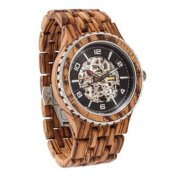 Reloj transparente de madera ultra premium. Fabricado a mano, fuerte y duradero.