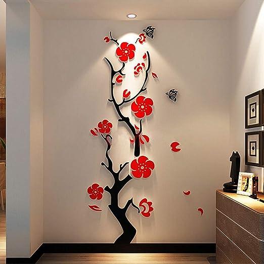 3D Flower Tree Decal Vinyl Decor Art Home Living Room Wall Sticker Removable