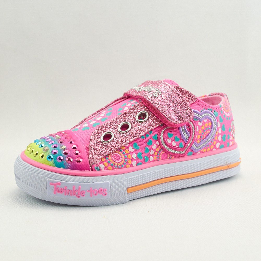 SKECHERS Twinkle Toe-Love Burst Lights (Toddler) - Neon - 6.5 M Tod